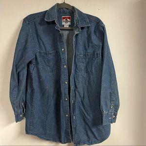 Vintage 80s Marlboro denim shirt medium